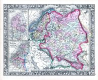 Russia in Europe, Sweden and Norway, World Atlas 1864 Mitchells New General Atlas